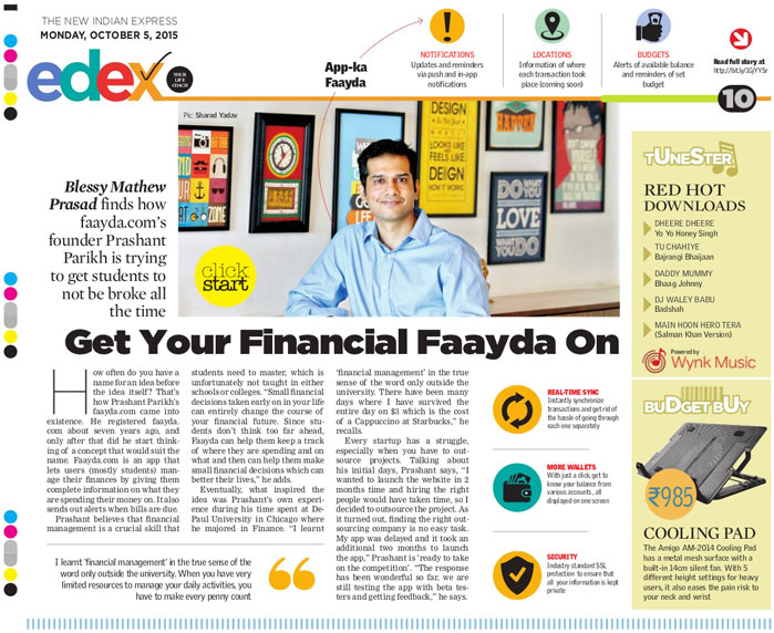 Faayda featured on The New Indian Express Edex