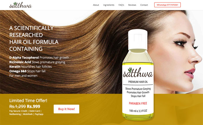 Satthwa - Premium Hair Oil