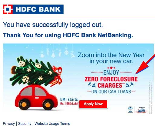 hdfc foreclosure car loan